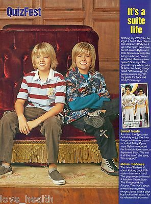"""DYLAN & COLE SPROUSE - THE SUITE LIFE - 11"""" x 8"""" PINUP - POSTER - TEEN BOY ACTOR"""