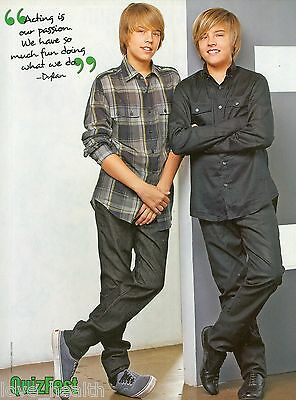 """DYLAN & COLE SPROUSE - 11"""" x 8"""" MAGAZINE PINUP - POSTER - TEEN BOY ACTORS - 2009"""