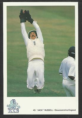 JACK RUSSELL (Gloucestershire & England) OFFICIAL TCCB CRICKET POSTCARD No. 43.