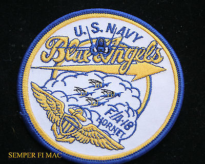 *Us Navy Marines Blue Angels F18 F/A18 Hornet Patch Uss Nas Pensacola Mcas Pilot