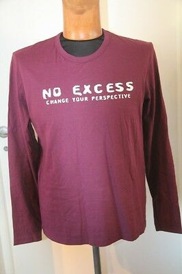 ORIGINAL  Tee shirt homme  ML NO EXCESS cassis taille S neuf