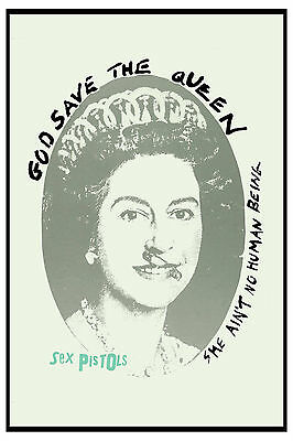 Johnny Rotten &  The Sex Pistols * God Save The Queen. * 2nd Poster 1977