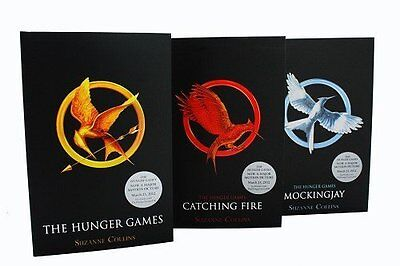 Hunger Games Trilogy 3 Books Set Suzanne Collins Mockingjay Catching Fire
