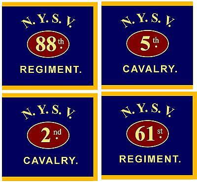 CUSTOMIZED Civil War Flag, New York State Guidon, Flank marker. Infantry/Cavalry