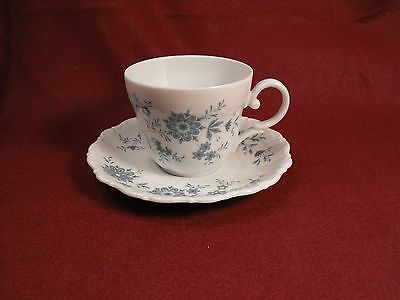 Seltmann Weiden Germany Christina  Porcelain Bavarian Blue  Cup and  Saucer Set