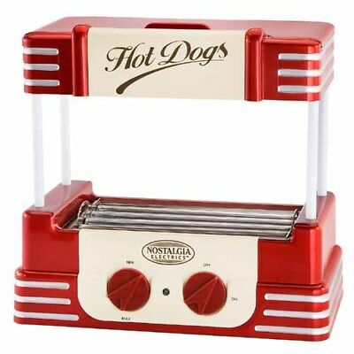 Nostalgia Electrics RHD-800 Retro Hot-Dog Roller Warmer Cooker Machine