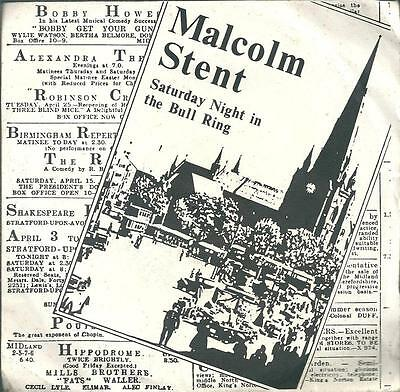 "Malcolm Stent - Saturday Night In The Bull Ring - 7"" Vinyl Ps 1980 Starward"