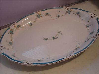 """VINTAGE EDWIN M. KNOWLES SEMI VITREOUS CHINA SERVING TRAY 12"""" LONG X 17"""" WIDE"""