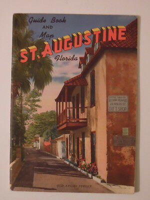 1950s St Augustine Florida Guide Book & Map