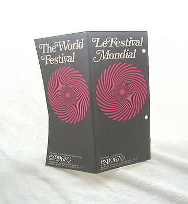 VINTAGE EXPO 67 1967 CANADA MONTREAL WORLDs FAIR CALENDAR of  EVENTS