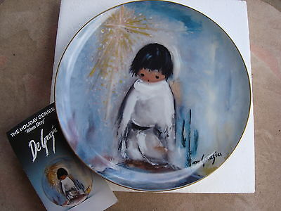 """BLUE BOY DeGrazia Collector Plate 10"""" #1267 Holiday Series Limited Edition NIB"""