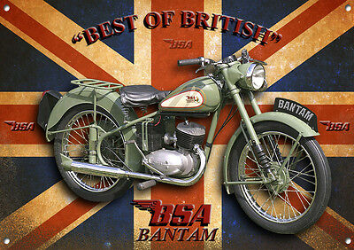 Large A3 Size Bsa Bantam Motorcycle Metal Sign,classic,vintage,collectable,