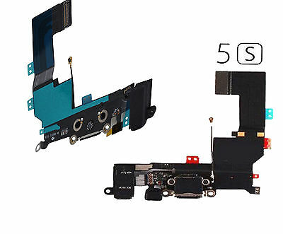 iPhone 5S A1457 A1533 SYNC Audio Charging Port Assembly Mic Flex Cable Black