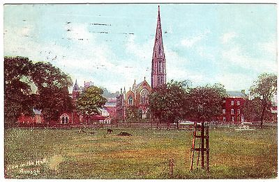 Colour Postcard First Presbyterian Church From The Mall/rokeby Green-Armagh