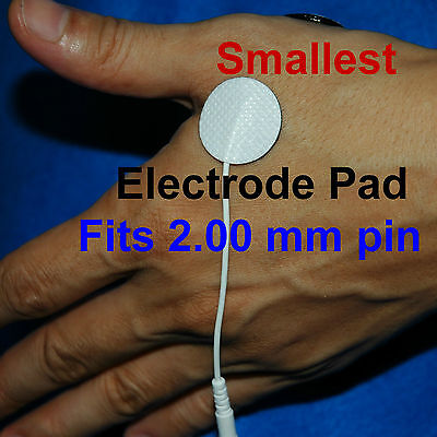 Round TENS machine Replacement Electrode Pads Self-Adhesive 2cm Reusable Small