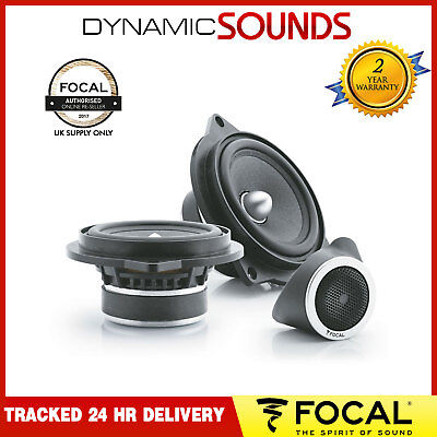 "Focal IFBMW-S 10cm 4"" 2-Way Component Car Speakers 80W for BMW 1, 3 5 Series X1"