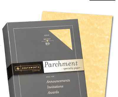 Invitation Certificate Parchment Paper Gold 50 Sheets 24 Lb