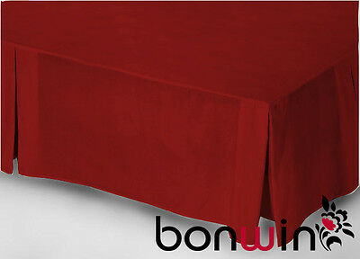 Queen Size Bedding 100% Egyptian Cotton Collection 1000TC Valance Bed Skirt RED