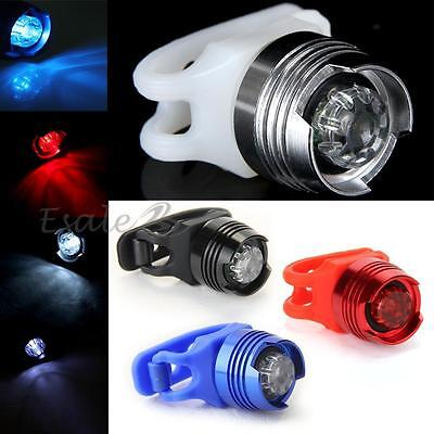 Cycling Mountain Bike Safety Warning Head Front Rear Light Lamp Multi-color