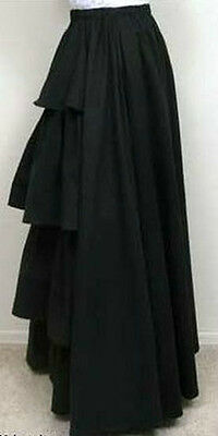 Frontier Classics Victorian Twill Bustle Skirt in Red, Black or Navy Dickens