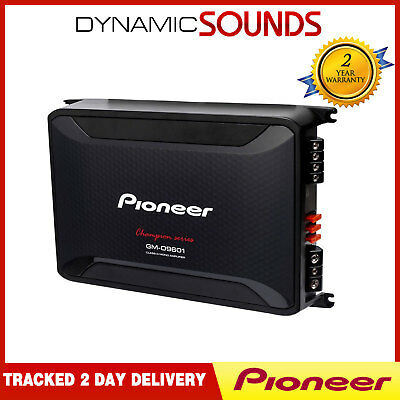 Pioneer GM-D9601 Mono Channel Class-D Car Amplifier 2400W with Bass Boost Remote