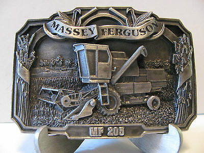 Massey Ferguson 205 Combine Belt Buckle 1986 Limited Edition #751 mf Pewter