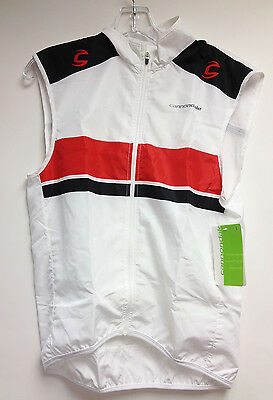 CANNONDALE L.E. CYCLING Vest in White / Red