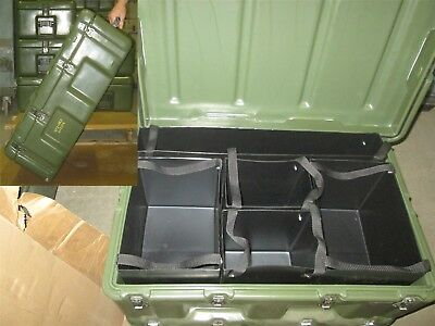 33x21x13 Pelican Hardigg Medical Chest w/ 5 Totes  Wheels Waterproof First Aid