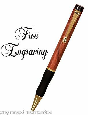 Personalized Rosewood Ink Pen Engraved & Shipped Free Black Ink Comfort Grip
