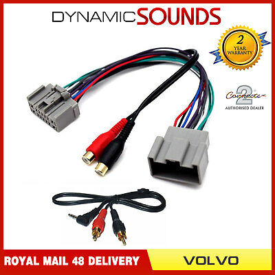 Auxiliary Interface Adaptor+3.5mm Jack Lead For VOLVO C30 C70 S40 V50 XC90 2004>