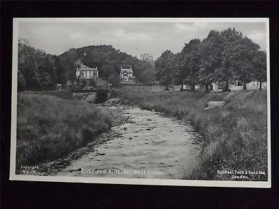 Old Postcard Of River And Hillside West Linton - Unused