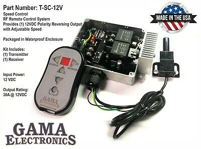 12VDC Polarity Reversing Remote Control with Speed Control