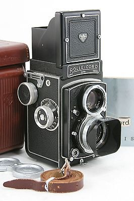 Rollei Rolleicord V, vintage 6x6 TLR camera, Xenar lens 3,5/75mm + case + manual