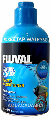 FLUVAL AQUAPLUS 500ml WATER CONDITIONER FISH TANK TAP SAFE FRESH NUTRAFIN