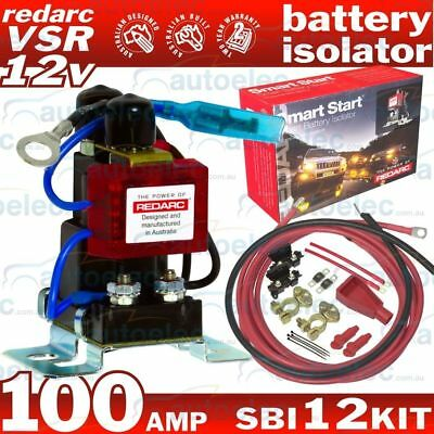 Redarc Sbi12Kit Dual Battery System Complete Package Batteries 12 Volt Isolator