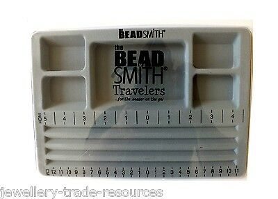 The Beadsmith Beaders Mini Travellers Bead Board with Lid for Jewellery Making