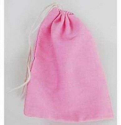 """PINK COTTON BAG 101 x 76 mm  (3"""" x 4"""") HERBS SPELLS RITUAL  Wicca Pagan Witch"""