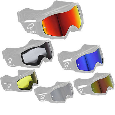 Black Rock Motocross Goggle Lens Motorcycle Protective Glasses Spare Part Tinted