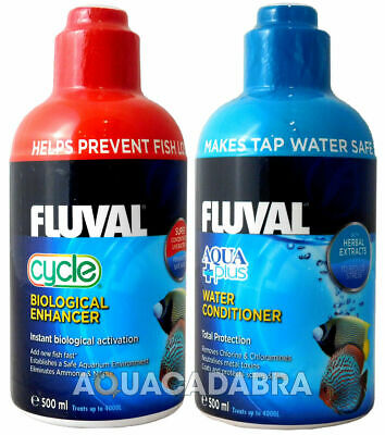 FLUVAL AQUAPLUS & CYCLE 500ml BIOLOGICAL WATER CONDITIONER FISH TANK NUTRAFIN