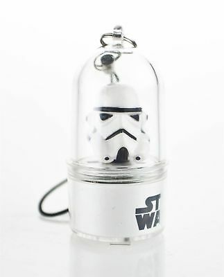 Star Wars Stormtrooper Spinnerz LED Mobile Phone Charm Collectable White New