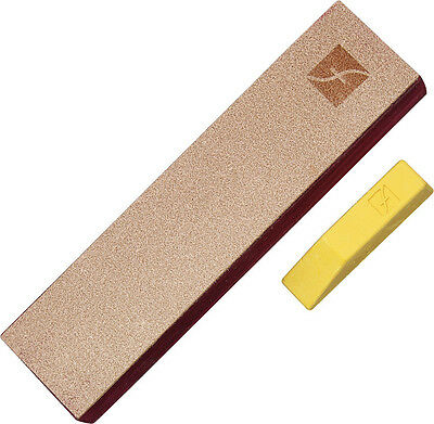 "FLEXCUT 8"" X 2"" LEATHER STROP for KNIVES or CUTTING TOOLS, w COMPOUND, FLEXPW14"