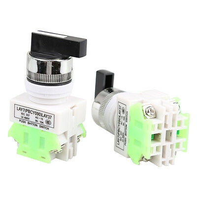 SN9F 2pcs ON/OFF/ON Rotary Three Position Selector Switch Power Ignition LAY37