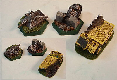 Battletech painted Accessory set Wreck Markers