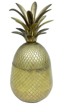 Early 20Th Century Chissled Brass And Gilt Pineapple Box Caddy