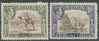 Aden 1939 Kgvi Pictorial 5R And 10R Top Values