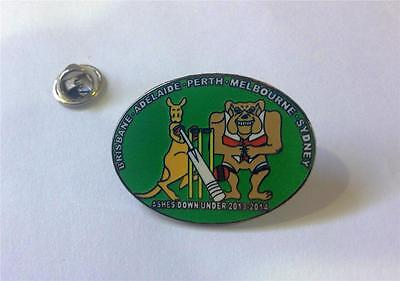 Ashes Cricket Enamel Pin Badge Australia England 2013-2014 Flag