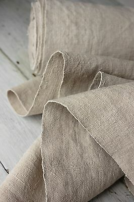 Vintage  European WASHED Linen 7YDS homespun material hand-woven WASHED cloth
