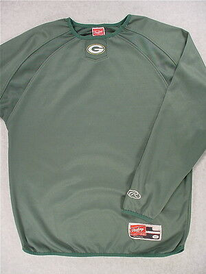 Green Bay Packers EASTON Stitched Long Sleeve Thermal Football Pullover (Medium)