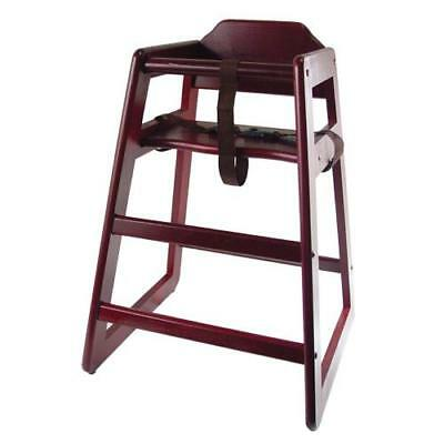 Wooden Restaurant Style High Chair - Child Seat  - Mahogany Wood Color