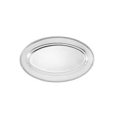 Winco - OPL-14 - 14 in x 8 3/4 in Oval Stainless Steel Platter